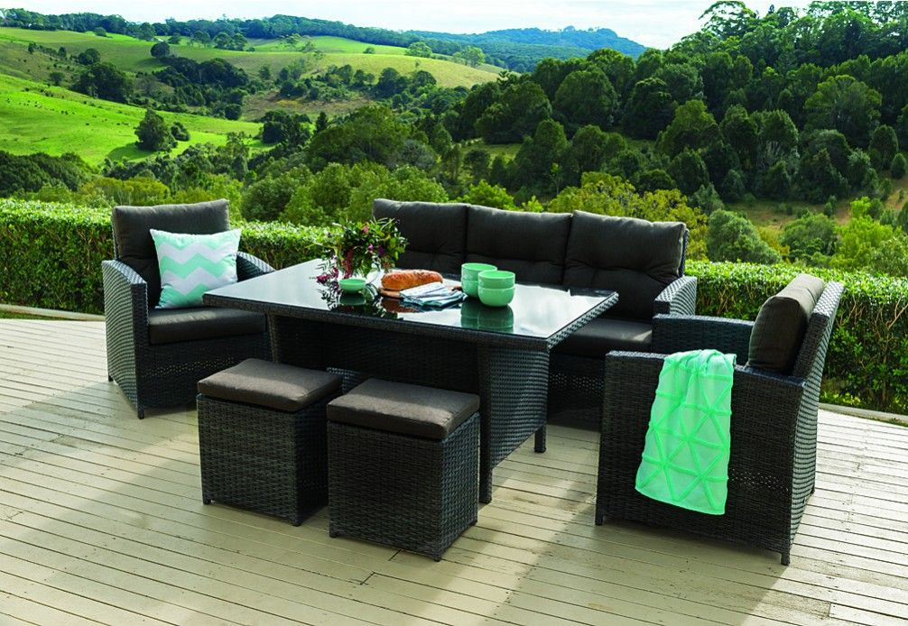 Outdoor Furniture Settings Part - 25: Barbosa 6pce Outdoor Lounge Dining Setting. | Super A-Mart