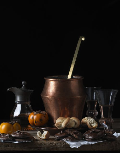 Still Life With Bread and Chocolate, After L.M. © 2014 Paulette Tavormina
