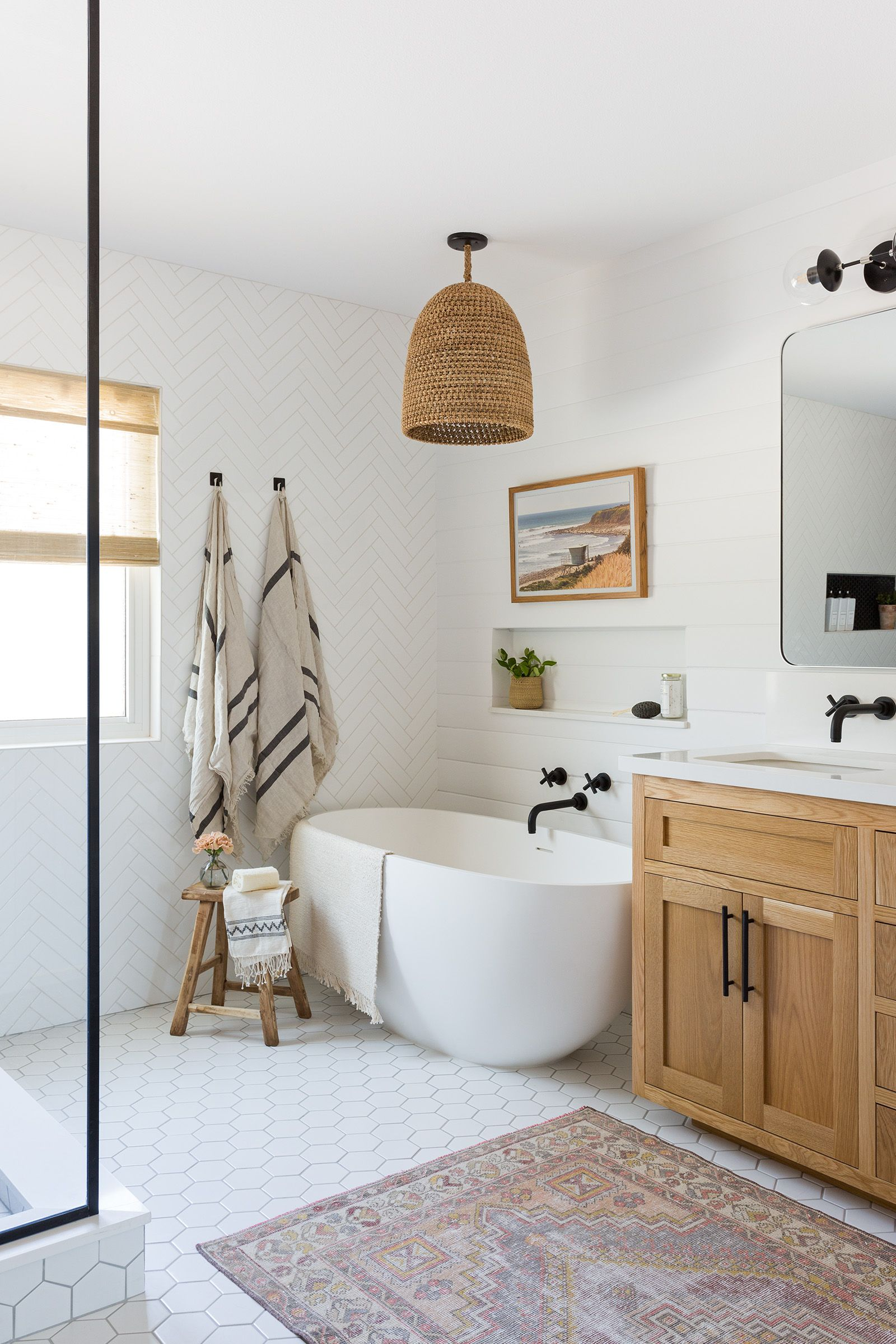 A Large Master Bathroom Designed With Personality Rue Master Bathroom Design Bathroom Interior Bathroom Interior Design