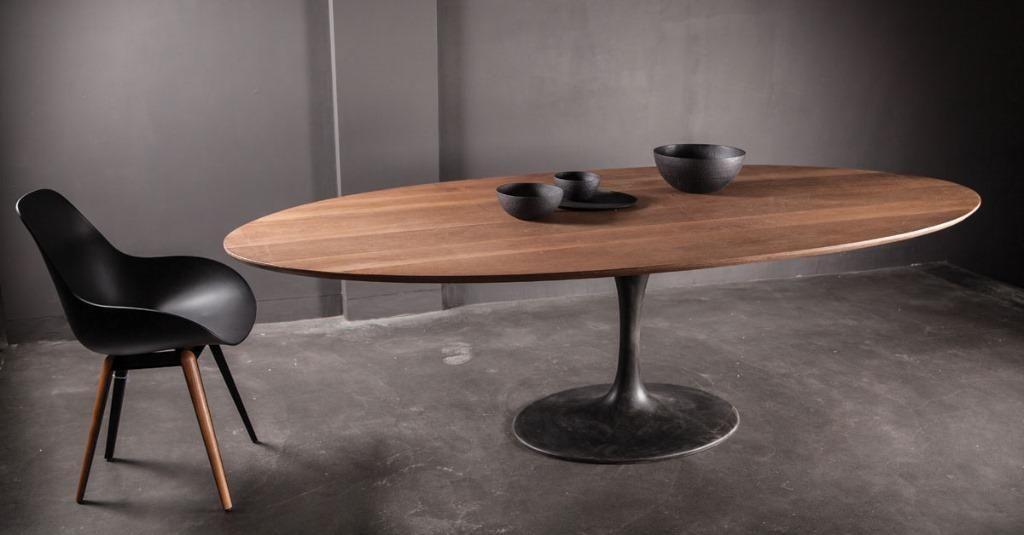 Saarinen Tafel Ovaal : Taylormade eiken tafel tulip saarinen ovale rond tafels