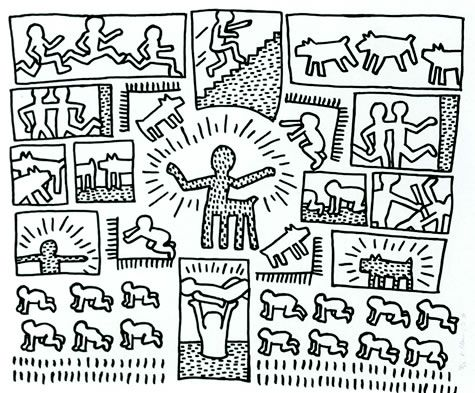 Keith haring the blueprint drawings kunstkleurplaten pinterest keith haring the blueprint drawings malvernweather Image collections