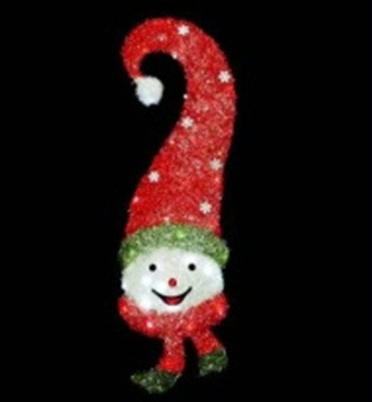 39 Lighted Sisal Snowman Face Christmas Yard Art Decoration