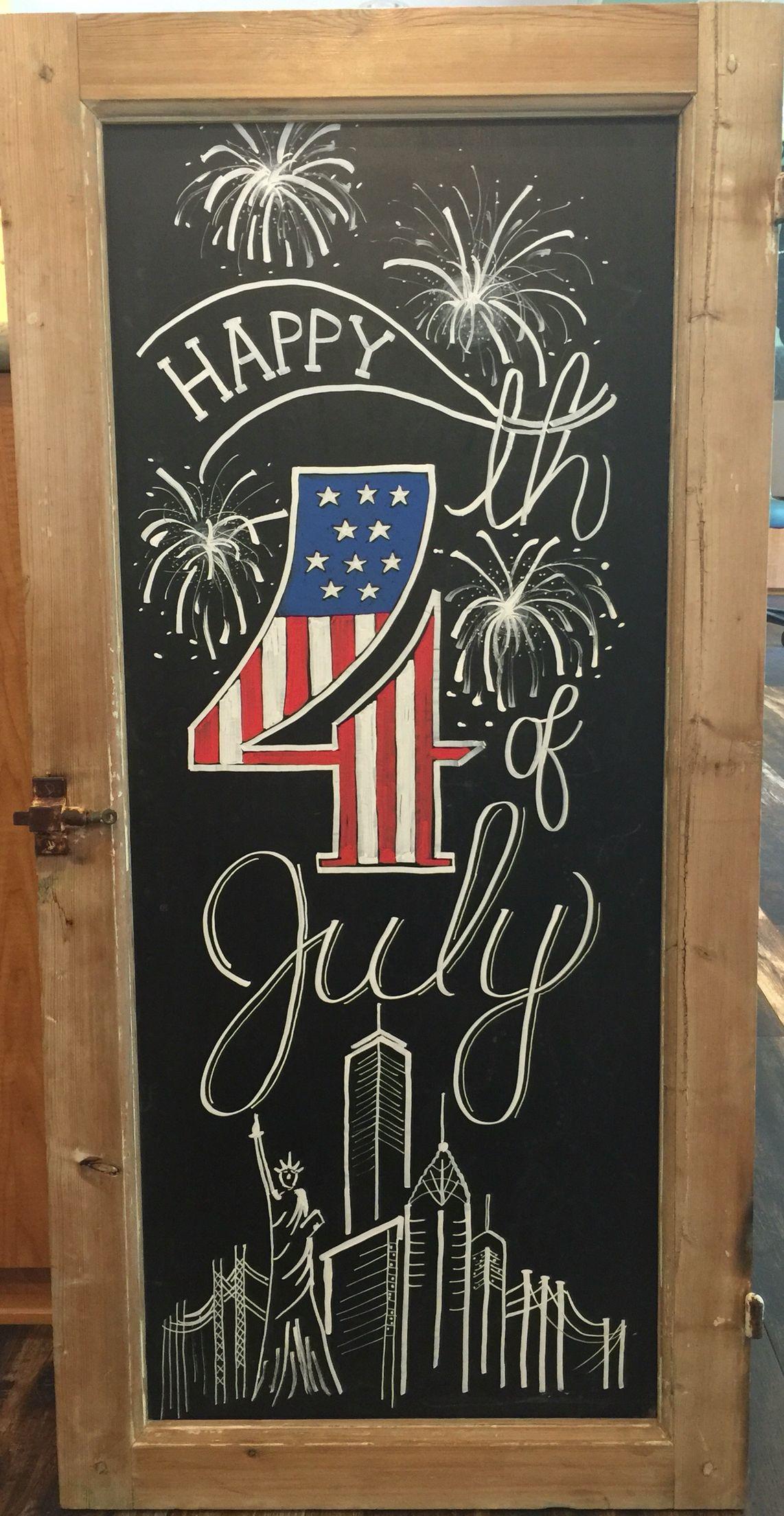 4th of July chalkboard   Fourth of july chalkboard, Summer ...