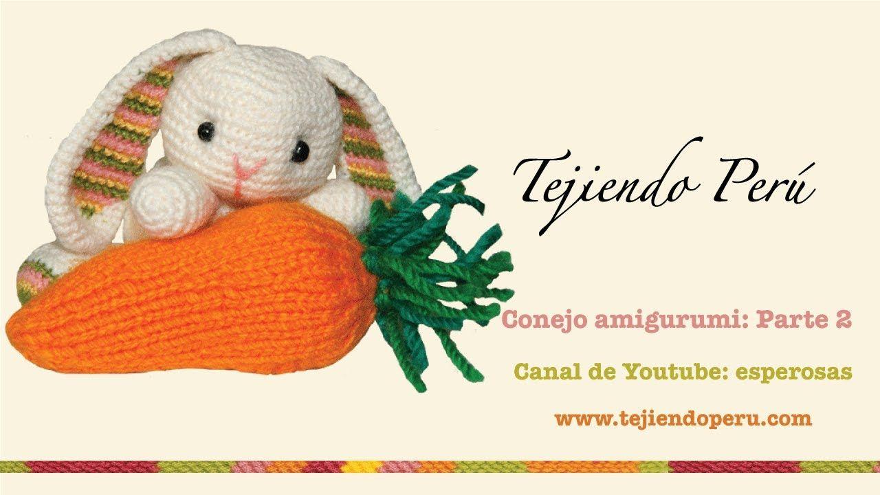 Conejo amigurumi (Parte 2: tejiendo los brazos y la cola ...