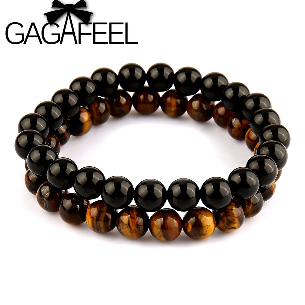 9d4b78c2442b GAGAFEEL Famous Brand Watch Bracelets Men s Jewelry Simple Bangle for Men  Natural Stone Round Bead Bracelet