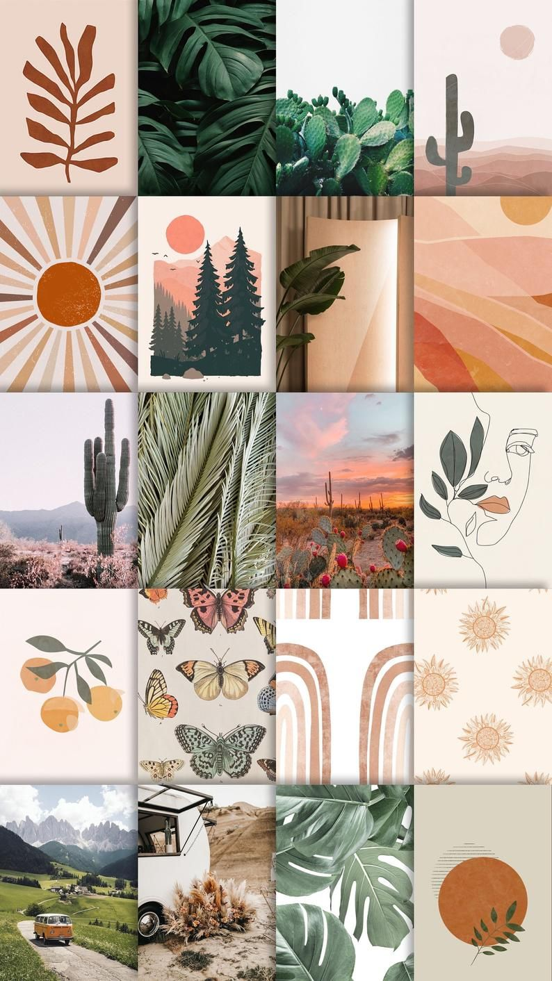 Earth and Boho Wall Collage Kit *DIGITAL* No images mailed to you!