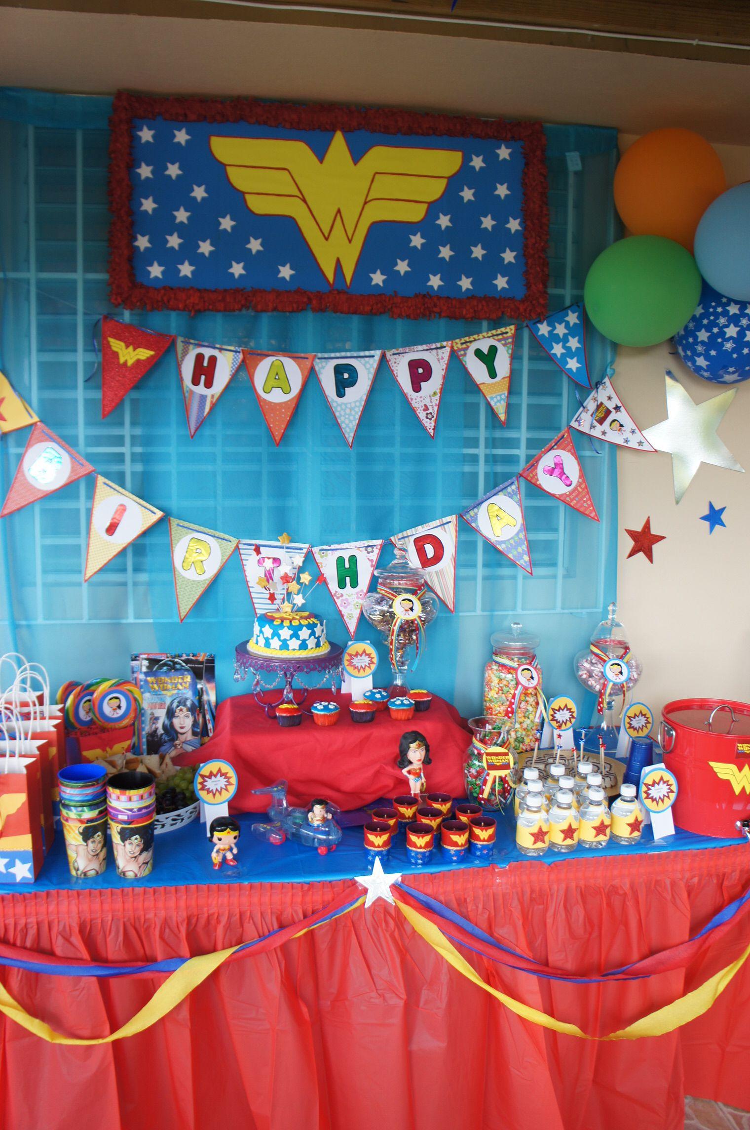 Birthday Party Ideas Debbie Serranowonder Woman Birthdaymarch2013