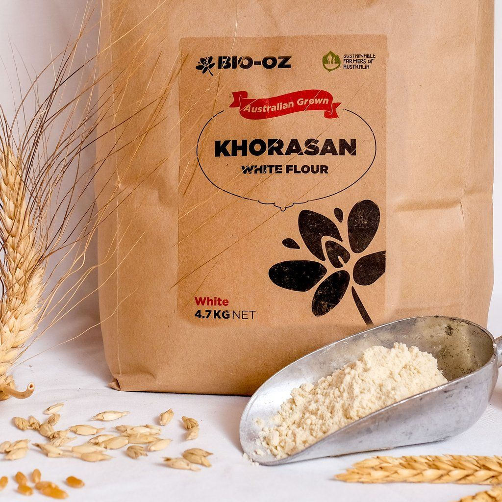 Grain Bio Khorasan White Flour 4 7kg Australian Grown Baking With Ancient