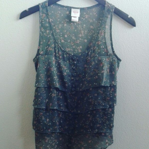 Forest Green floral tank Forest green floral tank Mossimo Supply Co Tops Tank Tops
