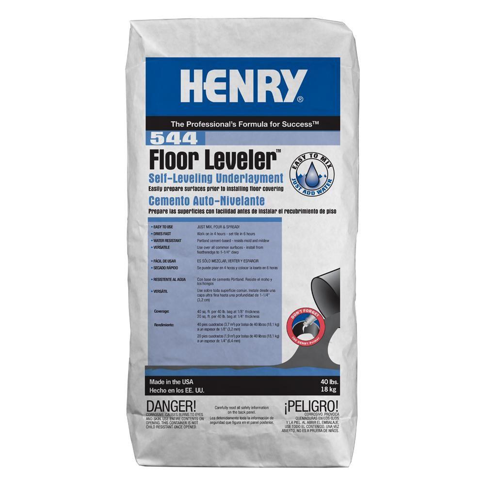 Henry 544 Floor Leveler 40 Lbs Self Leveling Underlayment Flooring Engineered Wood Floors Home Depot