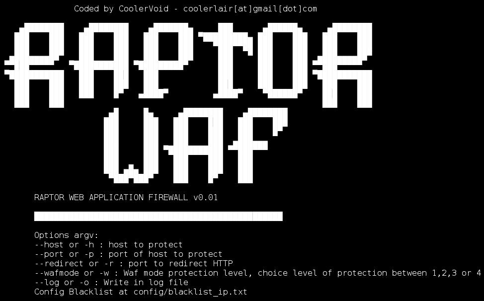 Raptor WAF Web Application firewall to Train Attacks