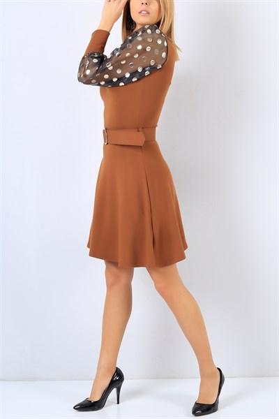 49,95 TL Taba Kol Detay Likralı Triko Elbise 22113B   ModamızBir