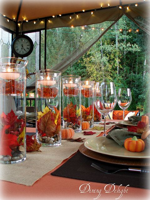 Outdoor Fall Tablescape in 2018 Tablescapes Pinterest Tall - outdoor christmas decorations wholesale