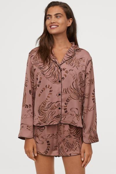 Photo of Satin Pajamas – Vintage Pink / Tigers – Ladies | H&M US