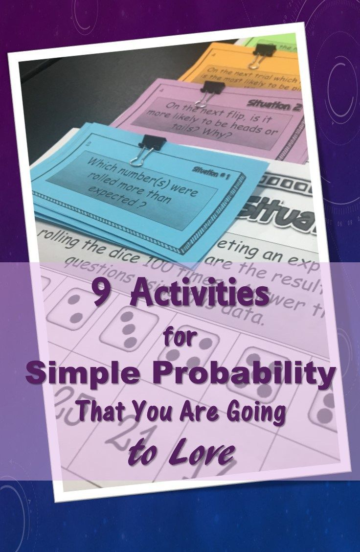 9 Activities for Simple Probability You Will Love   Math, Statistics ...