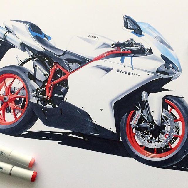 Ducati 848evo Mattewhite Motorcycle Racingbike Race Bike