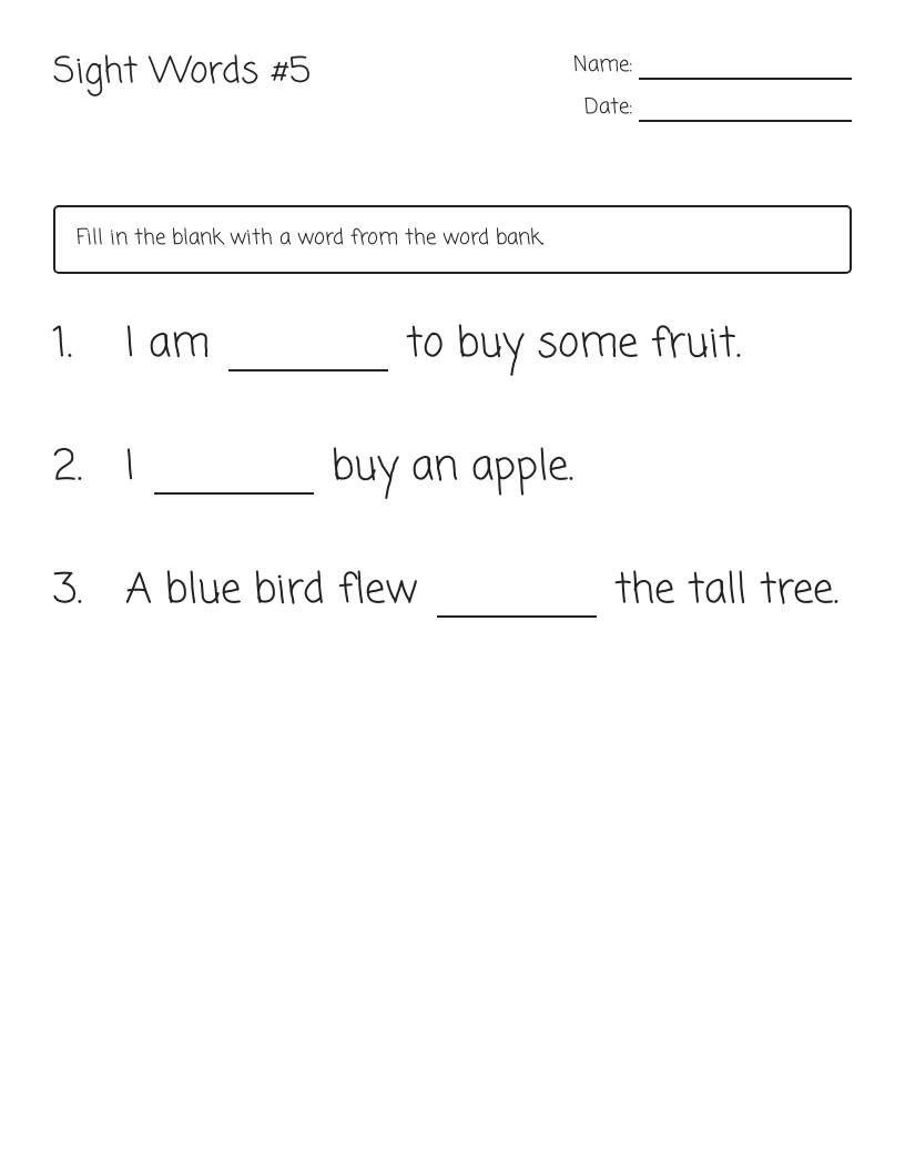 Sight Words Kindergarten Worksheets Sight Words Teaching Spelling Words Making Words