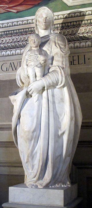 Vincenzo Danti - Madonna col bambino - 1568 - Cappella Baroncelli - Basilica di Santa Croce a Firenze
