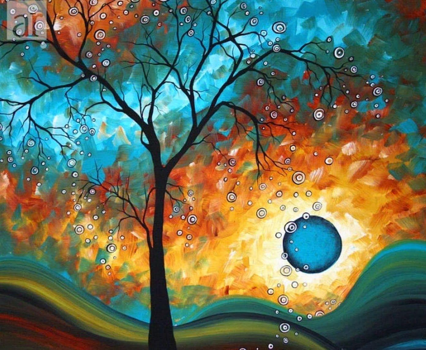 Cuadros modernos abstractos de paisajes aroon duncanson - Pintura cuadros modernos ...