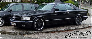 Black Mercedes Benz W126 500 Sec At The Worthersee Tour 2010
