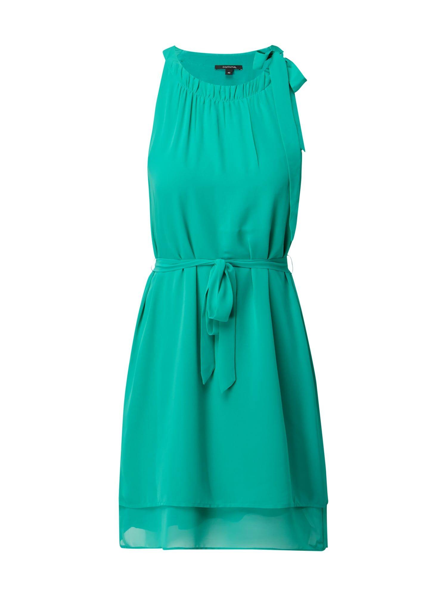 comma - Kleid aus Chiffon mit Taillengürtel - Grün ...