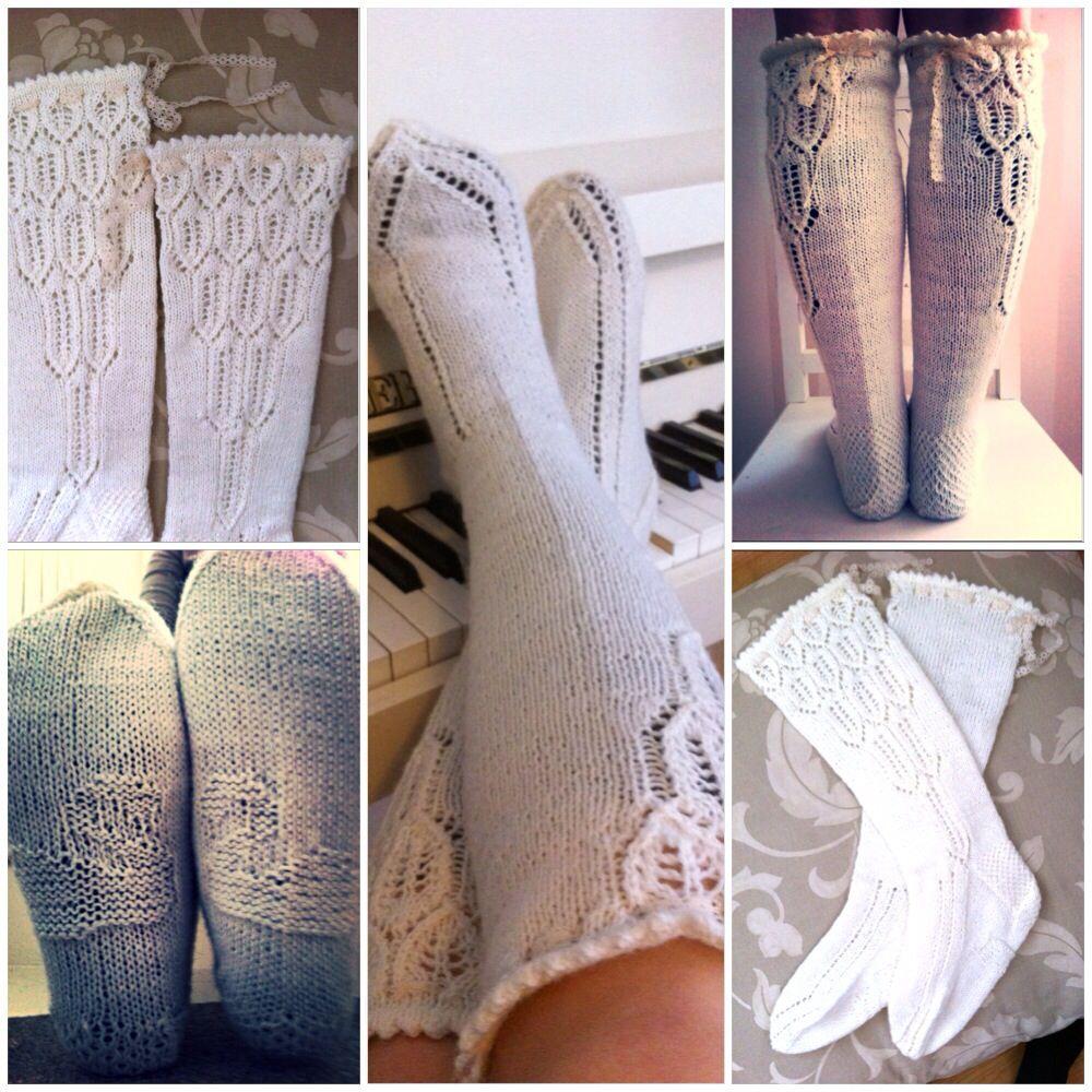 Swan-socks / joutsen-sukat