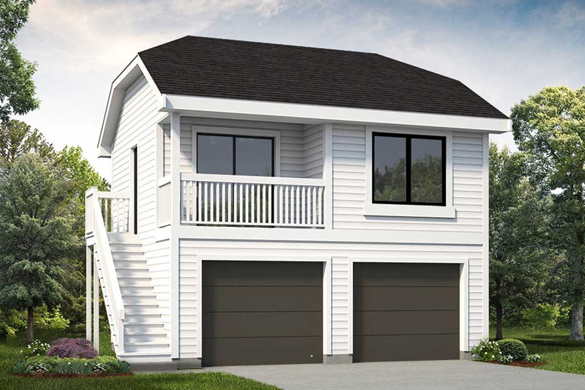Plan 88330sh Detached 2 Bed Garage Plan With Bedroom Suite Above Above Garage Apartment Garage Apartment Floor Plans Garage Apartments