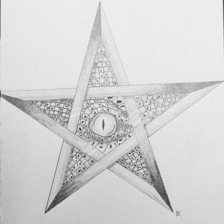 Pentagramme Et œil De Démon