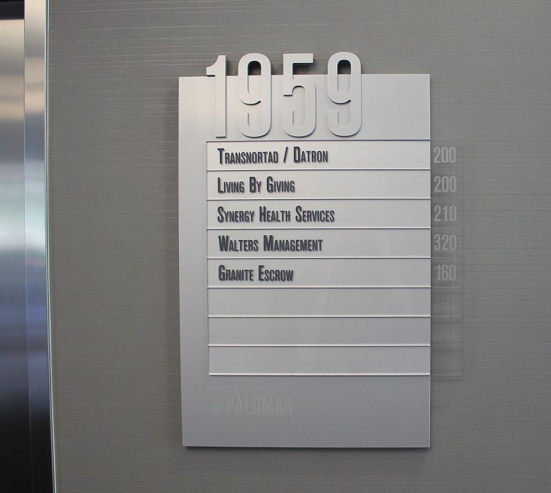 Directory Signage For Office Building Carlsbad Ca San Diego County Directory Signage Floor Signage Directory Signage Design