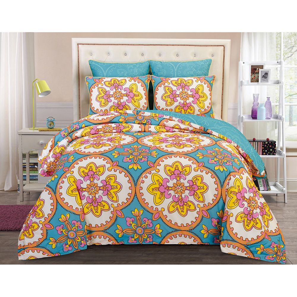 This stunning comforter set is crafted from quality