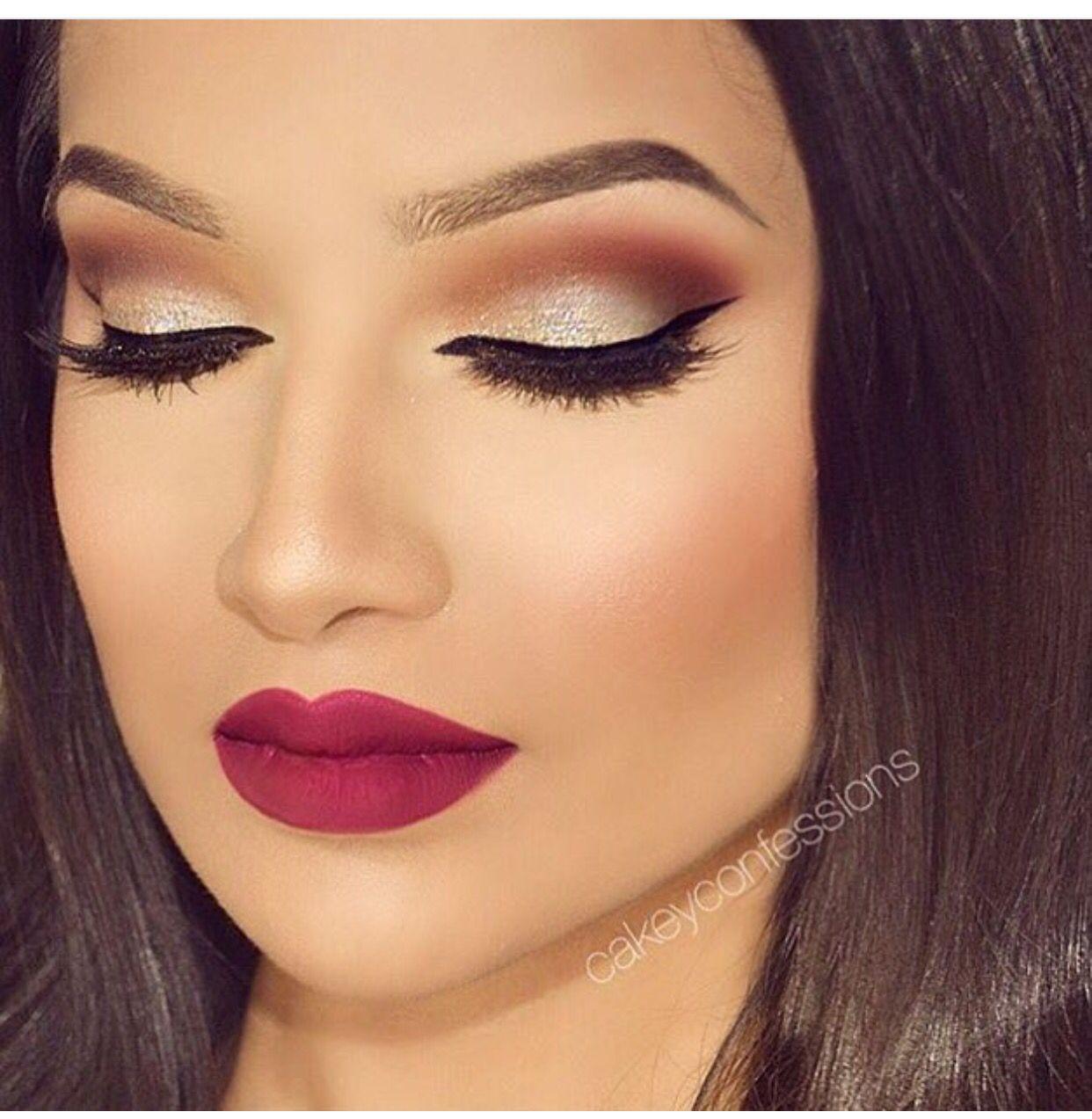 Gold and burgundy  Eye makeup red dress, Makeup, Eye makeup