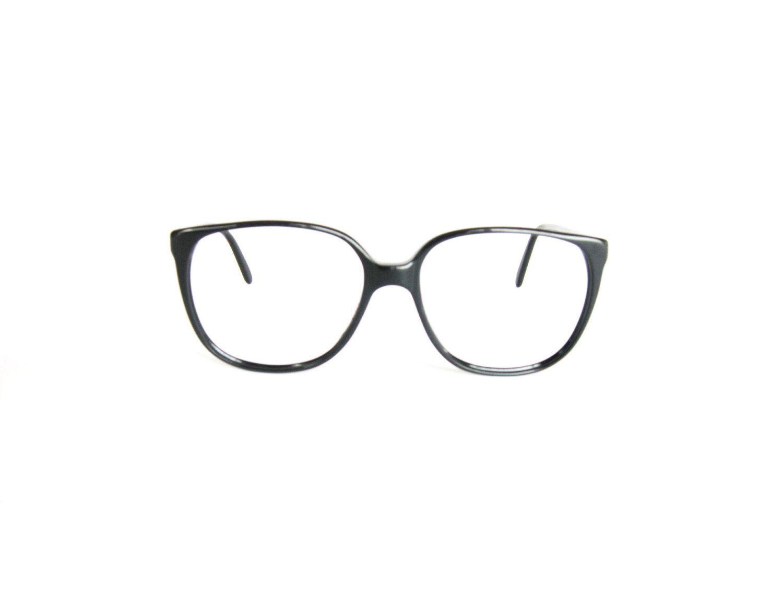 498e1086dc Vintage Large Wayfarer Eyeglass Frames Glasses - Polo Ralph Lauren - Black