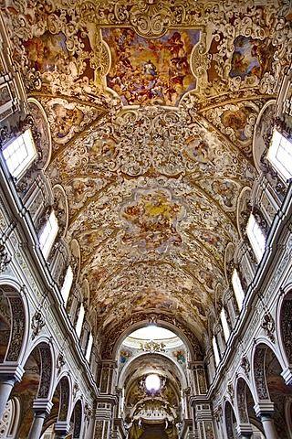 Techo De La Iglesia Catedral Mazara Del Vallo Sicilia Italia Eiffel Tower Inside High Quality Stock Photos Photo