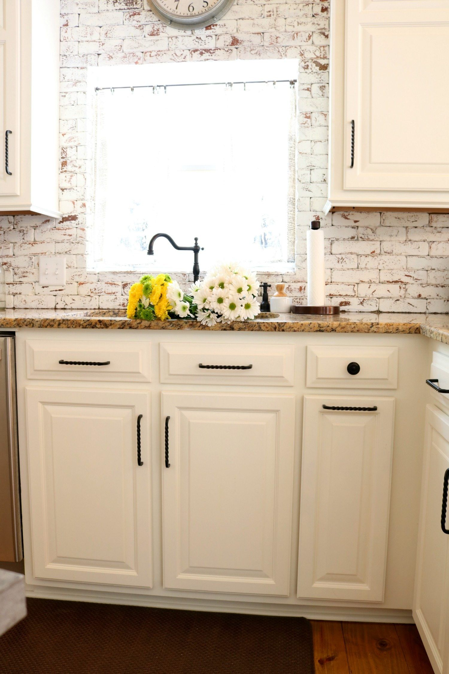 How To Paint Brick Kitchen Cabinets Kitchen Remodel Painted