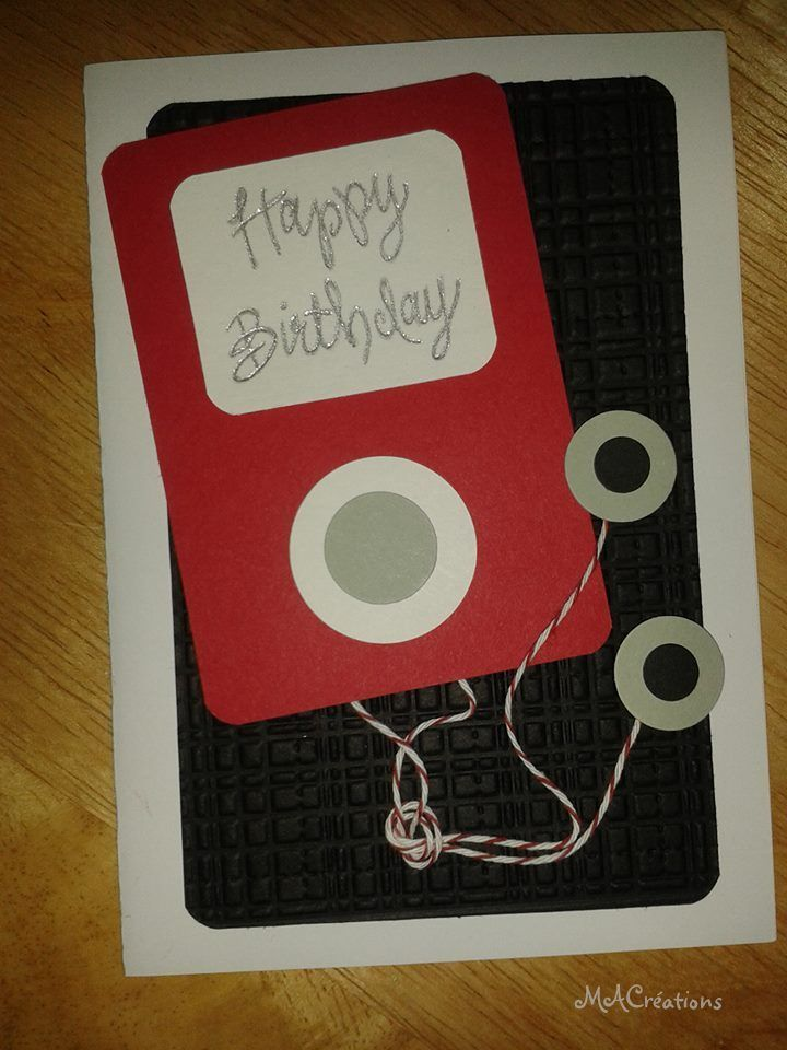 Ipod Birthday Card For My 13 Year Old Son Card Ideas Pinterest