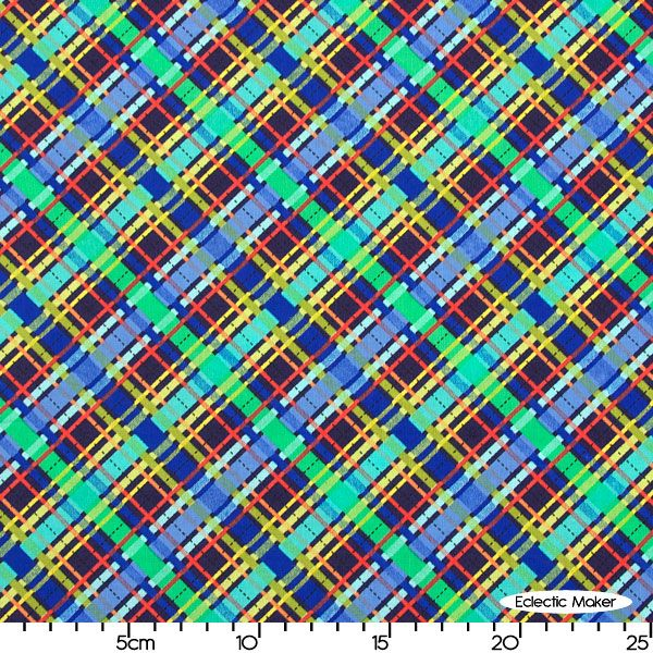 Michael Miller Fabric Lil` Plaid in Navy Michael Miller Fabric Lil` Plaid in Navy for patchwork quilting and dressmaking