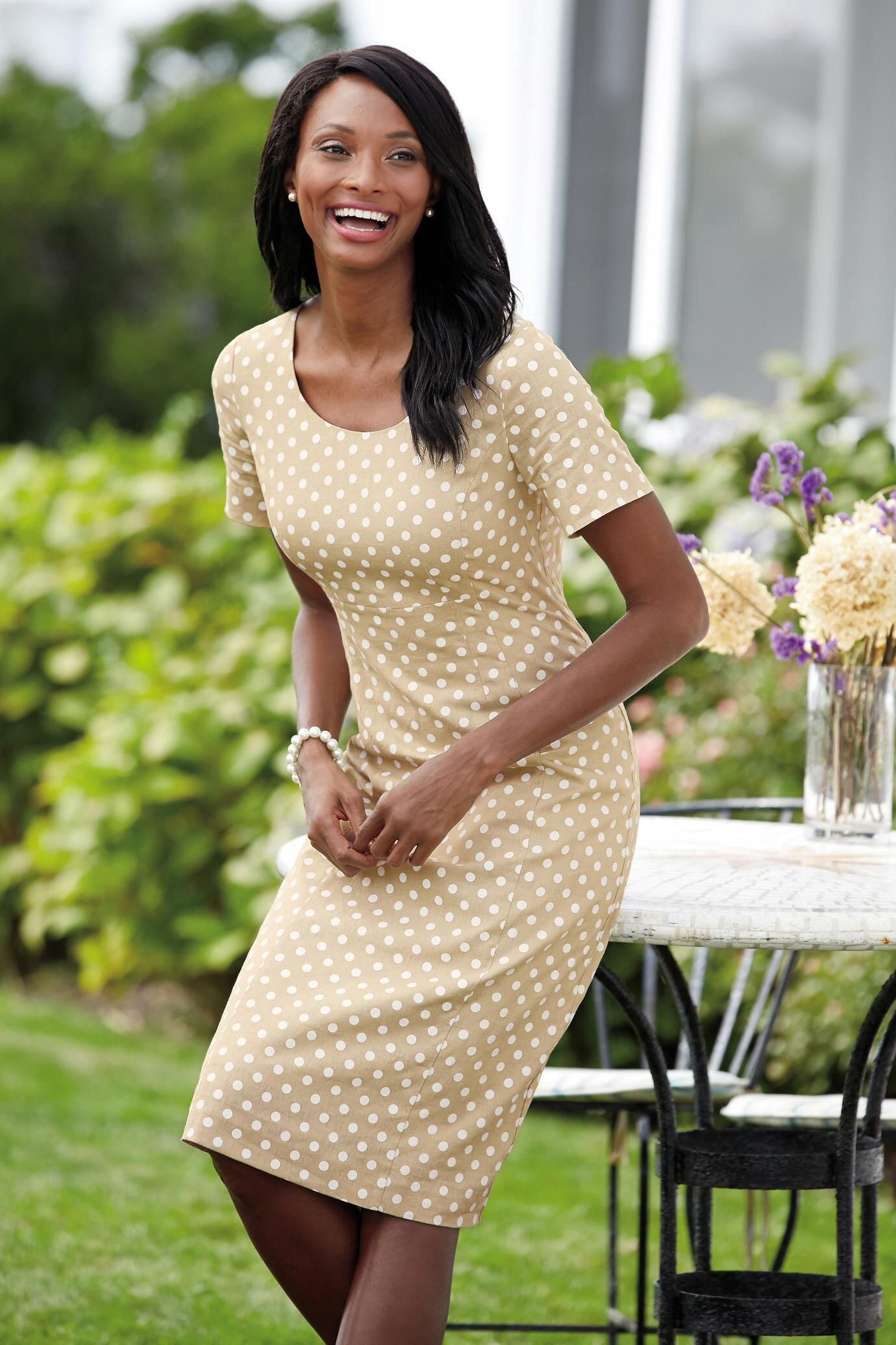 e72c3510 Perfect Fit Linen Sheath Dress: Classic Women's Clothing from  #ChadwicksofBoston $29.99 - $34.99