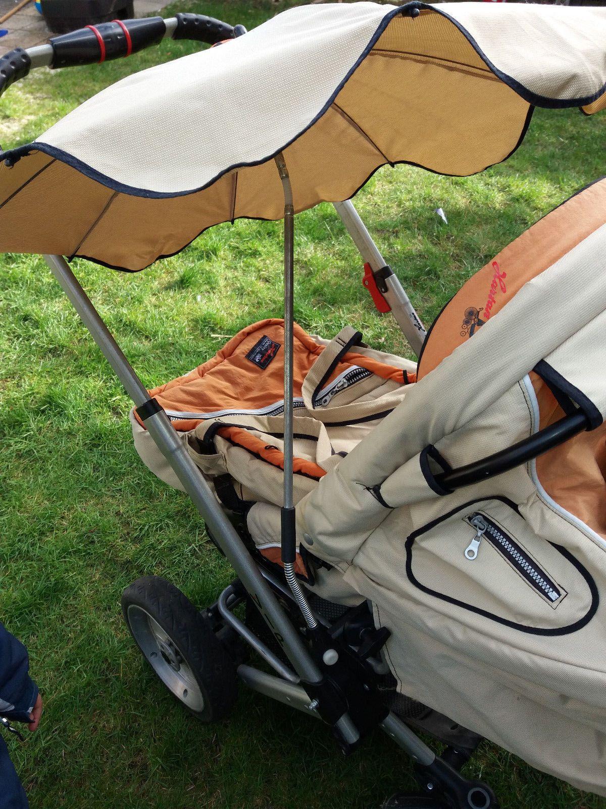 Hartan Vip Kombi Kinderwagen Sportwagen Sonnenschirm Orange Beige