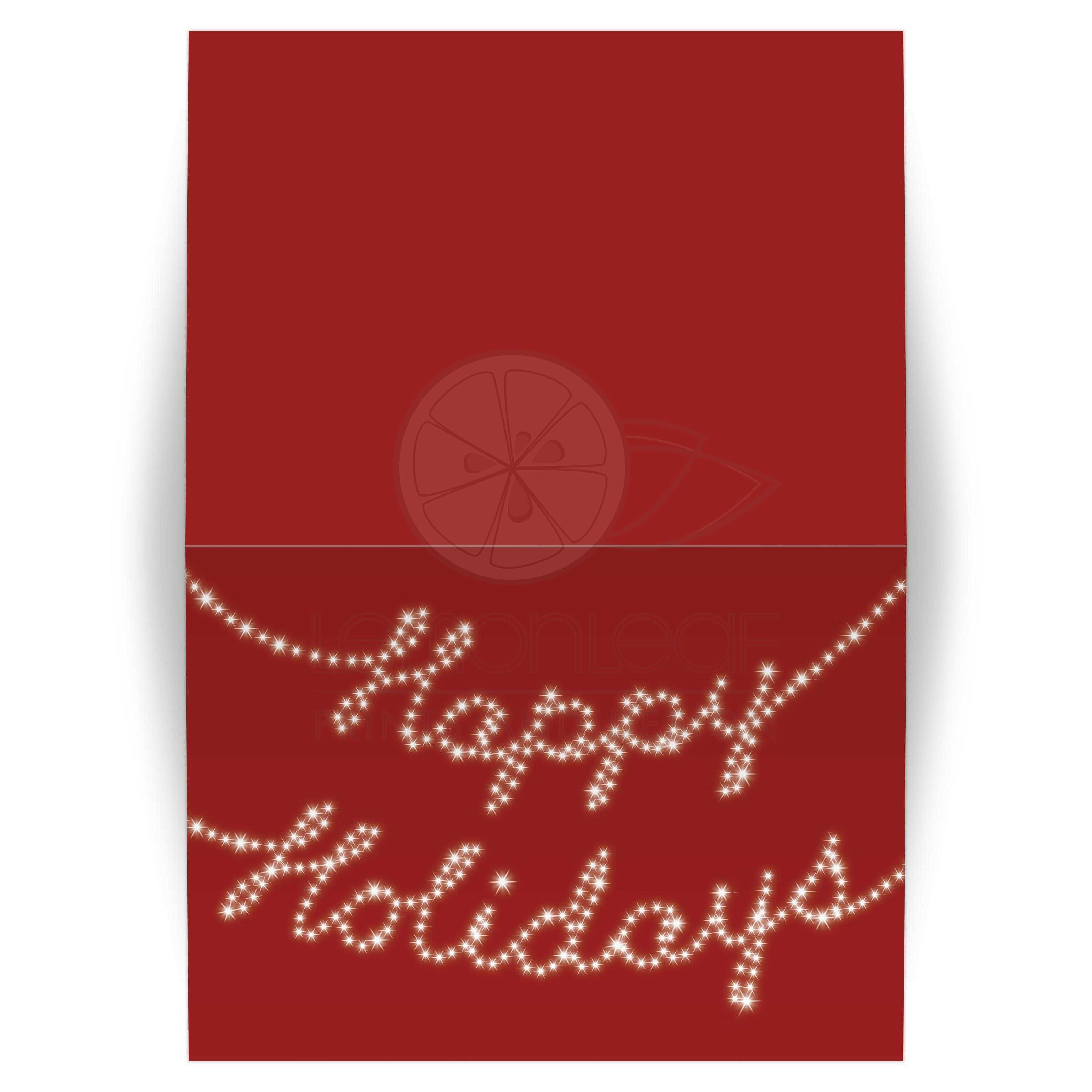 Holiday Card - Happy Holidays in Twinkle Lights Red (5x7) | Holiday ...