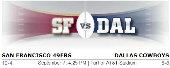 San Francisco 49ers vs. Dallas Cowboys NFL Preview - #DalvsSF #DallasCowboys #49ers #SanFrancisco #Dallas #NFL #Football