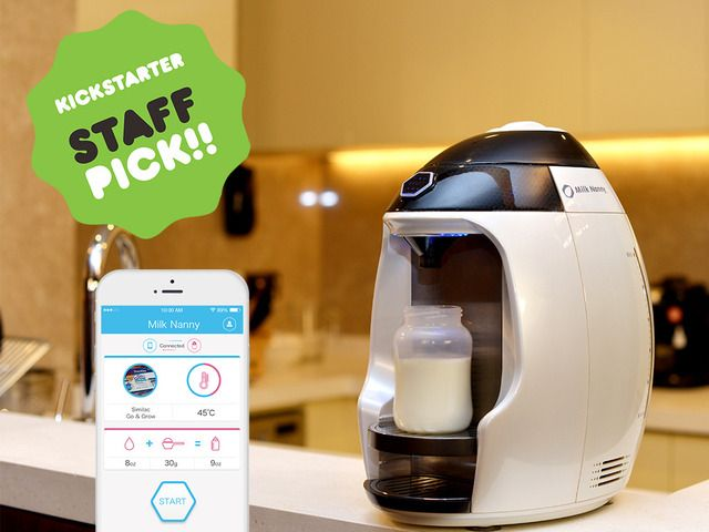 Milk Nanny is a smart home kitchen appliance that makes great tasting, fresh, warm baby formula milk in seconds.