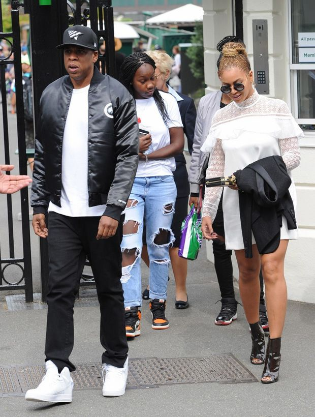 Jay Z in the Nike Air Force 1 High WhiteWhite Wimbledon  Wimbledon