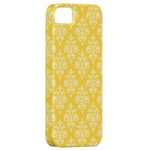 Elegant Yellow Damask iPhone 5 Covers