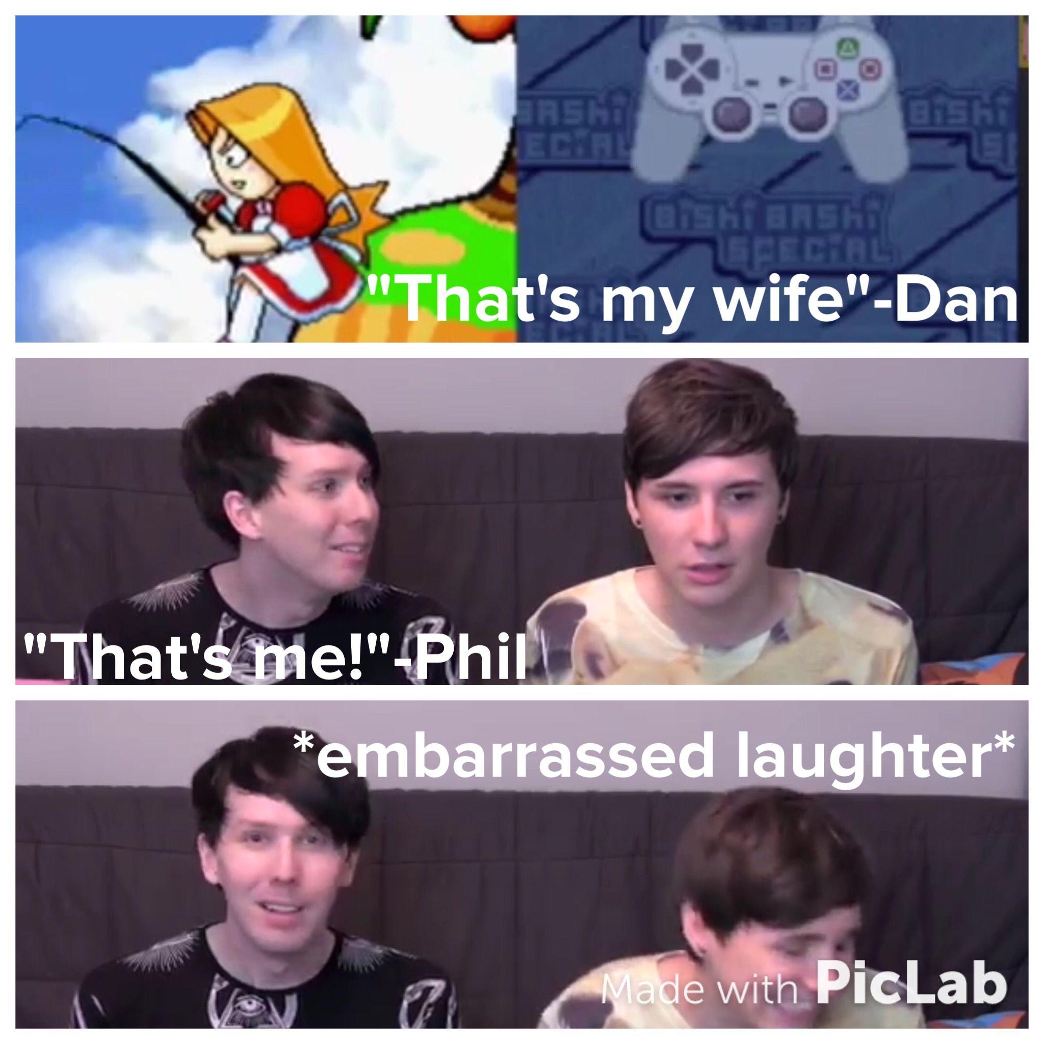 Dan and Phil playing 'Bishi-Bashi'
