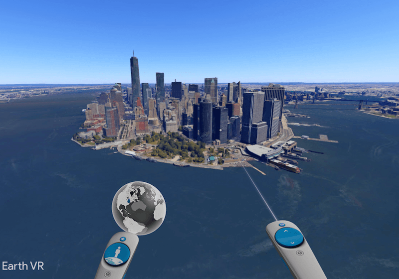 Google Announces Google Earth Vr For The Htc Vive Virtual Reality Fly Around The World Google Earth