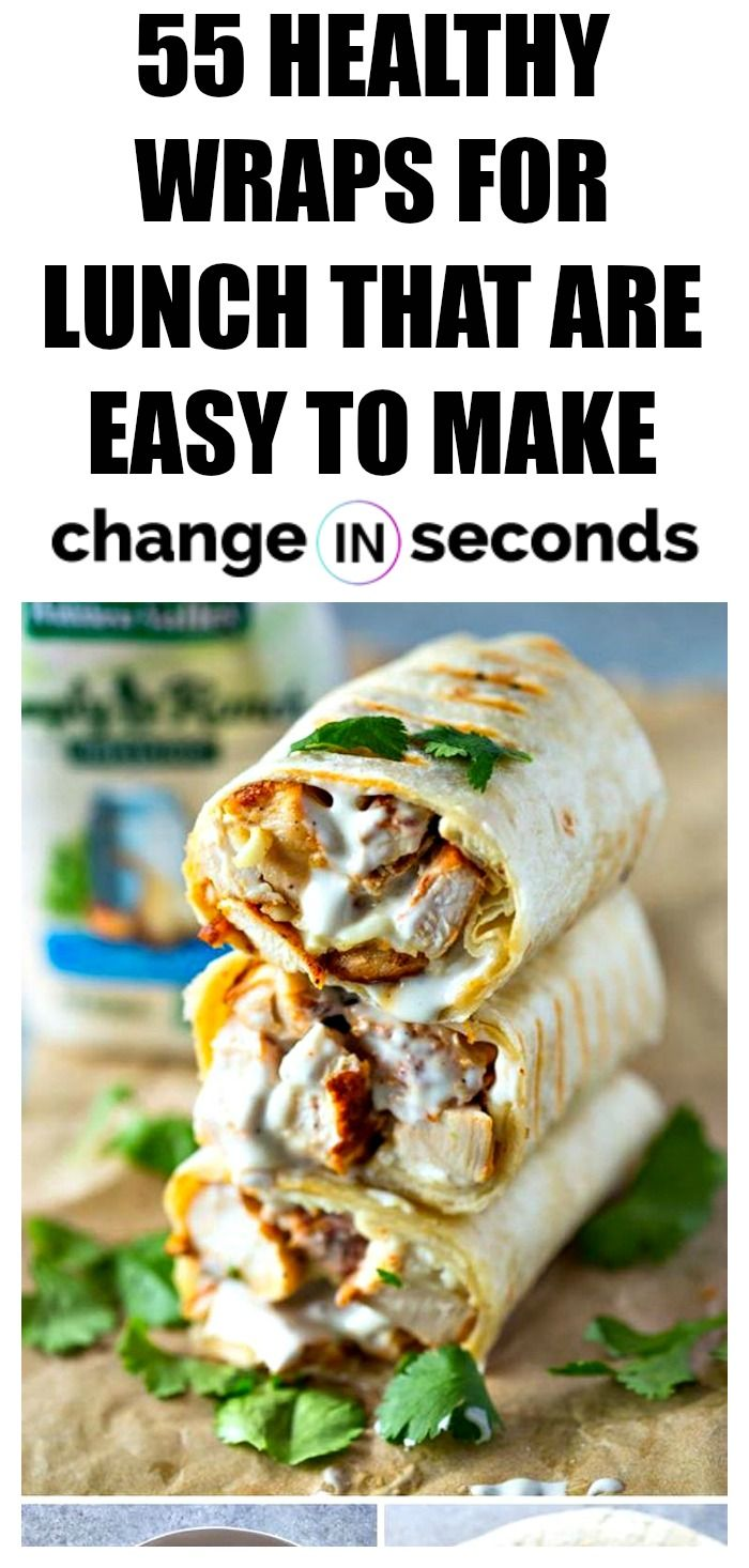 55 Healthy Wraps For Lunch That Are Easy To Make #healthycooking