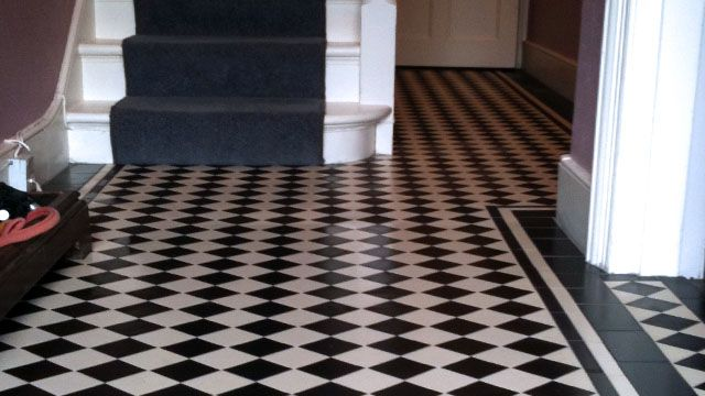 Black And White Tile Floor Gallery Classic 70