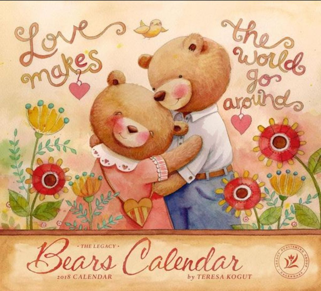 The 2018 country bears wall calendar is no available i will sign calendars kristyandbryce Image collections