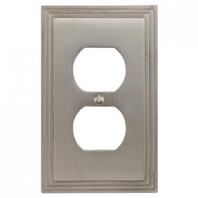 Deco Design Solid Brass Duplex Outlet Cover - Electrical Plates - Hardware
