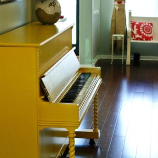 Dare to paint your piano yellow.